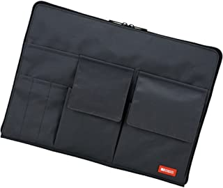 LIHIT LAB Laptop Sleeve with Storage Pockets (Bag-in-Bag), Black, 10 x 13.8 Inches (A7554-24)
