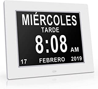 NIOKE Reloj Calendario con Fecha, día y Hora | Reloj Alzhei