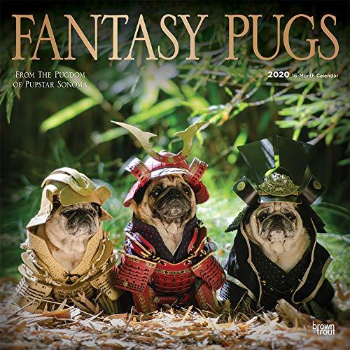Fantasy Pugs - Phantasievolle Möpse 2020 - 16-Monatskalender: Original BrownTrout/Wyman Publishing-Kalender [Mehrsprachig] [Kalender] (Wall-Kalender)