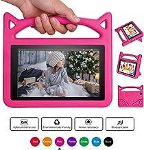 Ainior Fǐrě 7 2019 Case,Fǐrě 7 Case 2017,Kids Shock Proof Protective Cover Case with Handle Stand for Ämǎzǒn Fǐrě 7 Inch Tablet (9th Generation 2019 / 7th Generation 2017/ 5th Generation 2015) (Pink)