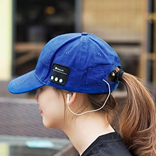 Chinatera Outdoor Bluetooth Baseball Cap Bluetooth Canvas Hat Wireless Music Speaker (Blue)
