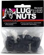 Gorilla Automotive 91147BCB Acorn Bulge Black Chrome Lug Nuts (14mm x 1.50 Thread Size)
