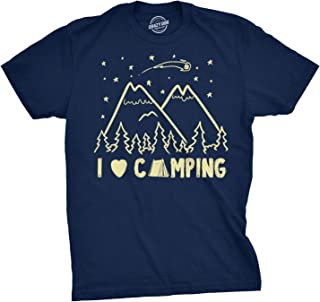 I Love Camping T Shirt Funny Summer Outdoor Forest Tee Camp in Tents