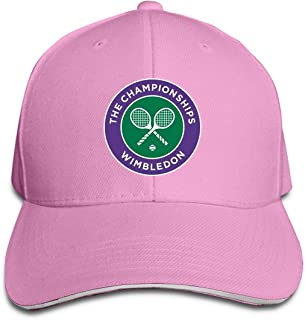 Unisex Adjustable 2016 Wimbledon Tennis Championships Flex Logo Baseball Caps Sports Outdoors Seasons Hat Pink