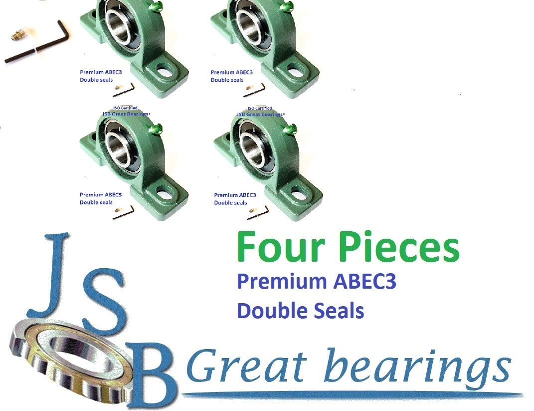 """Qty.10 7//8/"""" UCF205-14 Quality square flanged UCF 205-14 Pillow bearing ucf205"""