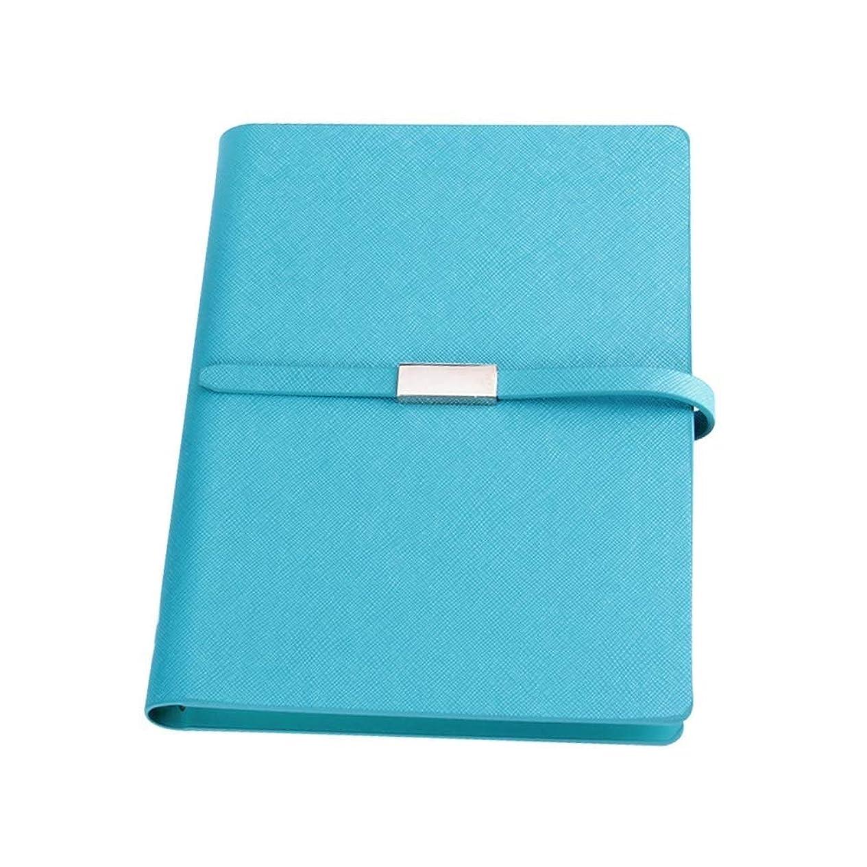 書き込み ノートA5手のアカウント、旅行アカウント日記オーガナイザー、ジャーナルレザーに書くための本 学生の (Color : Blue Notebook)
