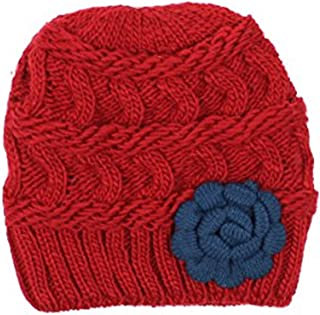 BSB an Womens Warm Lined Flower Cable Knit Winter Beanie Hat Retro Chic Many Styles