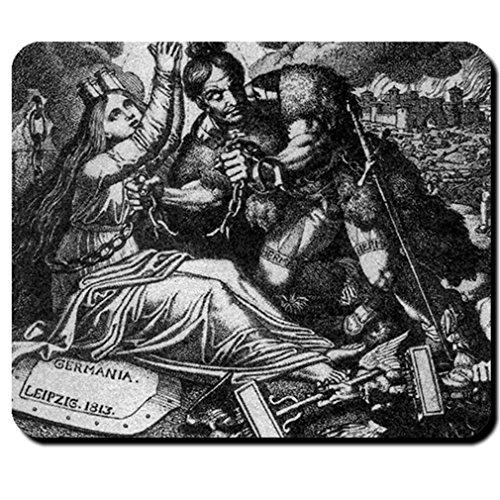 Hermann Germania Karl Ruß 1818 Biedermeier Epoche Gemälde Göttin Mauspad #16192