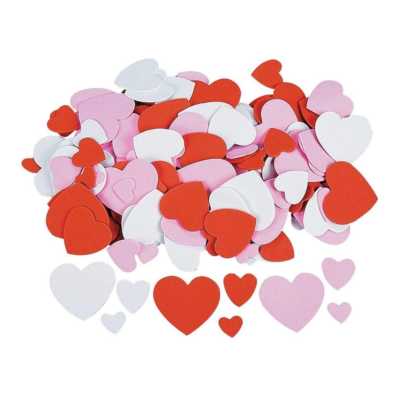 FUN EXPRESS FOAM HEARTS 400 PIECES - ASSORTED