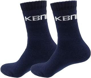 KBNI Mens Extra Thick Cushion Heavy Duty Premium Bamboo Work Socks (1/6 Pairs) (11-14, 1-Pair Navy)