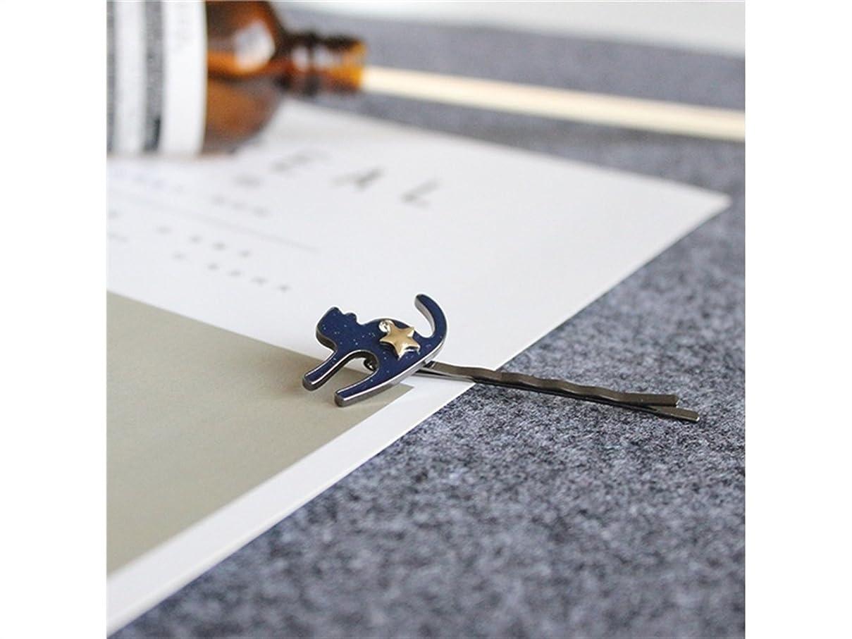 バイオリンアイドルナチュラルOsize 美しいスタイル 5つ星キテンワンワードヘアクリップサイドクリップヘアピンヘアアクセサリー(ブルー)