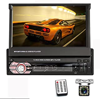 "Car Stereo Single Din in Dash with Bluetooth Audio Radio 7"" HD Auto Retractable HD Touch Screen Car Radio Support Mirror L... photo"