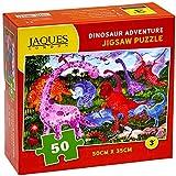 Dinosaur Adventure Jaques London Rompecabezas para niños - Puzzle de 50 Piezas para niños - Rompecabezas Recomendado para niños de 4 años -