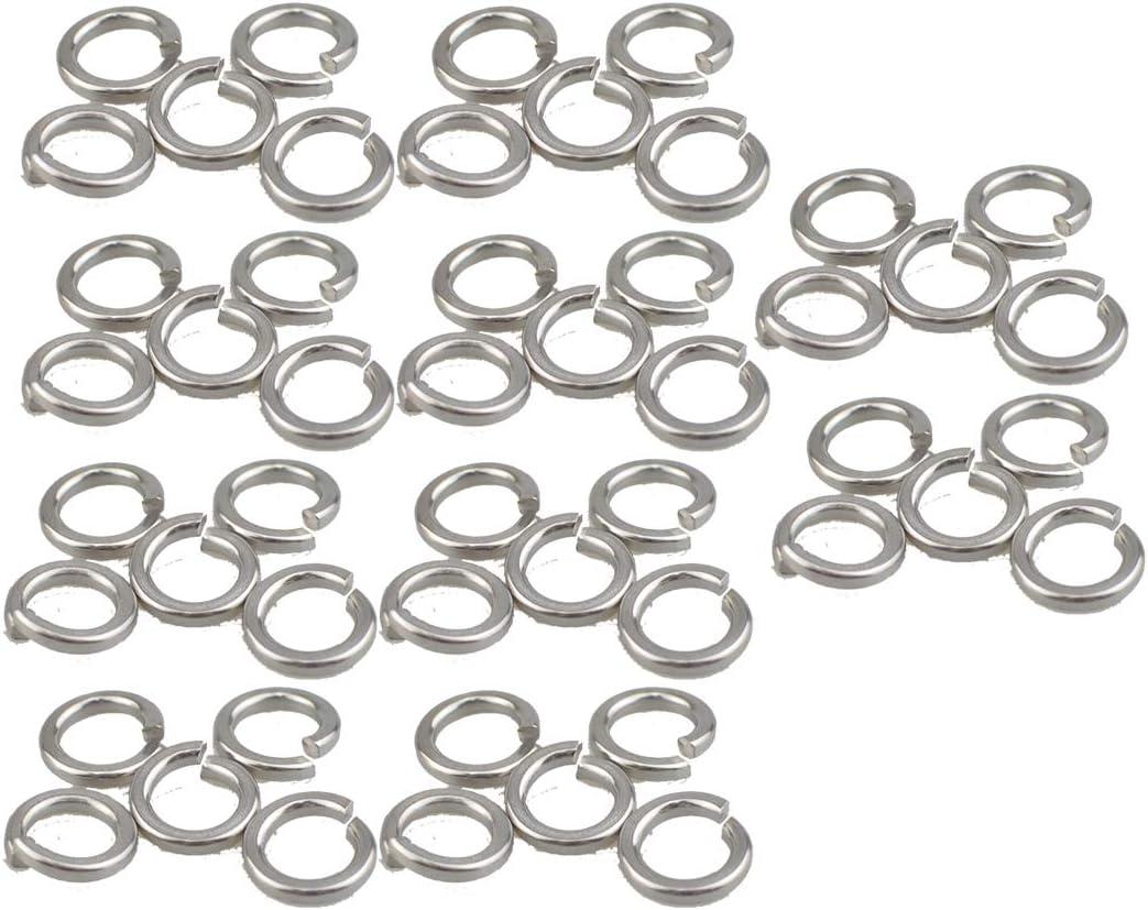 50, M6 XunLiu 316 Stainless Steel Ring Gasket Split Lock Spring Washer