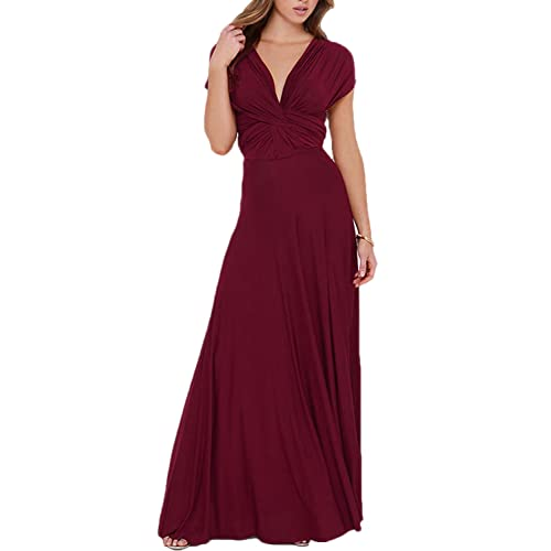 189127a62ff PERSUN Women s Convertible Multi Way Wrap Maxi Dress Long Semi Formal Party  Long Dresses