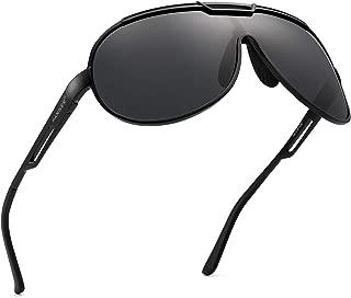 Retro Aviator Driving Polarized Sunglasses for Men Al-Mg Metal Frame Ultra Light