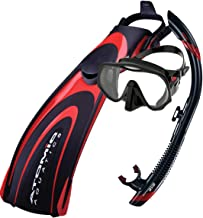 Atomic Aquatics Mask Fins & Snorkel Package