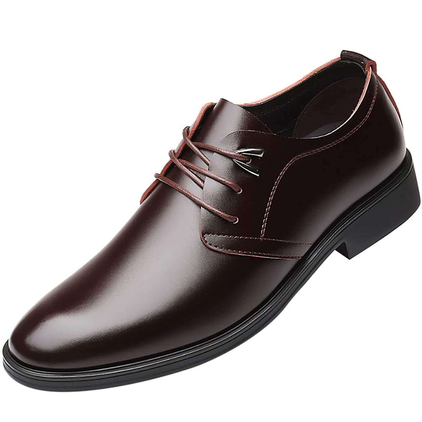Respctful?Men Oxford Dress Business Shoes Comfortable Modern Formal Shoes, Leather PoinLace Up Oxfords