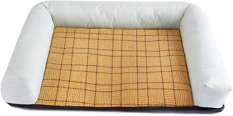 CHEN. Pet bed  pet mat moistureproof bite four seasons universal pet sleeping mat mat cat mat supplies pet supplies,Green,M