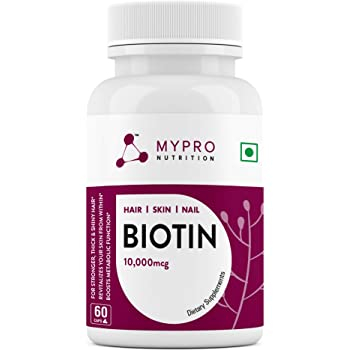 Mypro Sport Nutrition Biotin 10,000 mcg | Beauty Capsules | Promotes Healthy Hair | Skin & Nails | Helps Support Energy Metabolism | Helps Convert Food Into Energy For Men And Women -60 Capsules