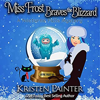 Miss Frost Braves the Blizzard: A Nocturne Falls Mystery audiobook cover art