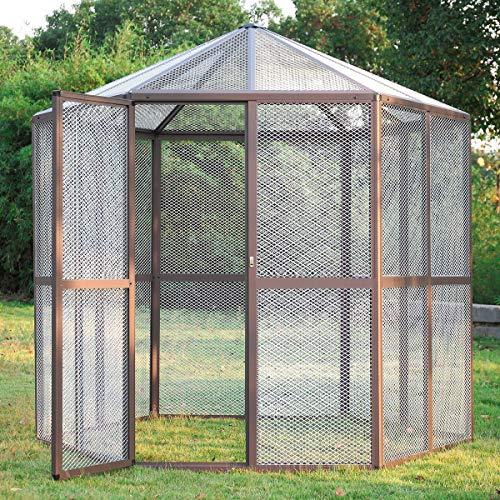 COZIWOW Extra Large Bird Cage for Parakeet Parrot Bird Perch, Big Indoor Outdoor Bird Aviary