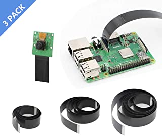 Raspberry Pi Camera Cable, iUniker 15 Pin Ribbon Flat Cable, Pi Camera Flex Cable, Flex CSI Cable 50cm/1m/2m for Raspberry Pi 3B+, 3B, 2B (Not for Pi Zero)