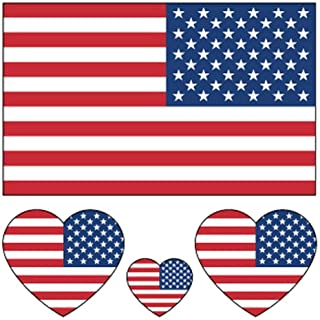 Daqin Unisex Waterproof Tattoo Sticker Fake Tattoo American Flag Sticker Decoration (Color : American flag)