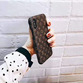 Small Monogarm - New Elegant Luxury Stylish Designer Fashion Premium PU Leather Monogram Classic Style Cover Case for Apple (iPhone Xs MAX)