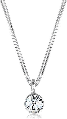 Elli Collana basic per donna solitario con cristallo Swarovski® in Argento Sterling 925