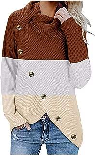 iHHAPY Women's Sweater Turtleneck Cardigan Warm Sweater Casual Cardigan Long Sleeve Top Slim Stylish Winter Sweatshirts