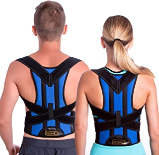 Back Brace Posture Corrector by ZSZBACE - Back Shoulder Support for Back Pain Relief with Dual Adjustable Straps and Breathable Mesh Panels (L)