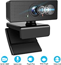 Webcam with Microphone, Airacker HD Webcam 1080p with Microphone,USB Webcam with 110� Wide View Angle,Computer Desktop Laptop PC Webcam for Live Streaming, Video Calling and Recording (Black)