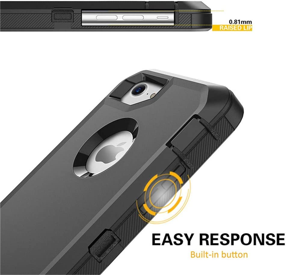 Althoa case for iPhone 7 Case iPhone 8 Case Full Protective Anti-Scratch Resistant Cover case for Apple iPhone 7 & iPhone 8 with Holster Belt Clip Stand Cover and Built-in Screen Protector