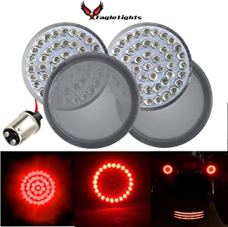 Eagle Lights 2 inch Rear LED Turn Signals For Harley Davidson Rear (1157) Turn Signals, Add Smoked Lenses