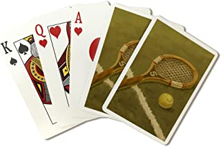 Tennis Racket - Oil Painting (Playing Card Deck - 52 Card Poker Size with Jokers)
