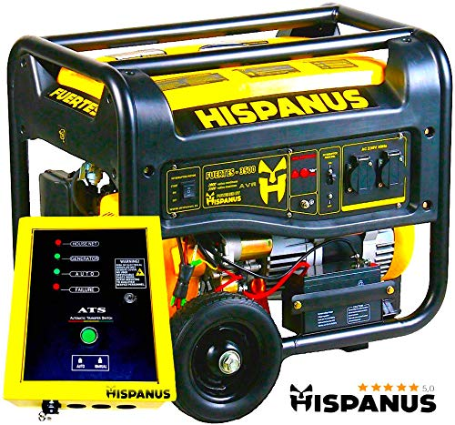 GENERADOR ELECTRICO HISPANUS FUERTES 3500WP (CON ARRANQUE AUTOMATICO ATS)
