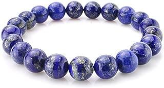 Natural Gemstone Bracelet 7 inch Stretchy Chakra Gems Stones Healing Crystal Quartz Women Men Girls Gifts (Unisex)