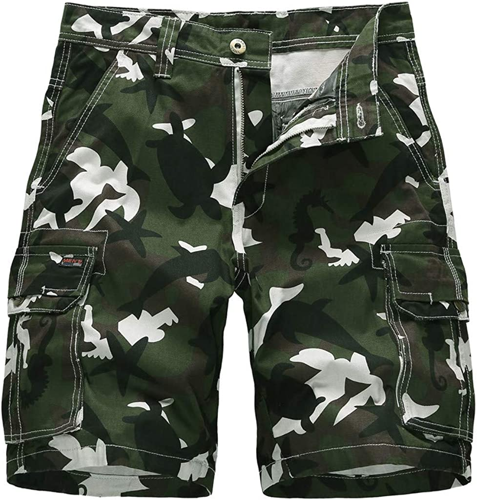 DIOMOR Casual Camo Relaxed Fit Drawstring for Shorts F Popularity Cargo High quality new Men