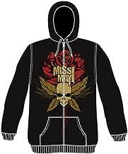 Miss May I Men's Rose Zippered Hooded Sweatshirt Black