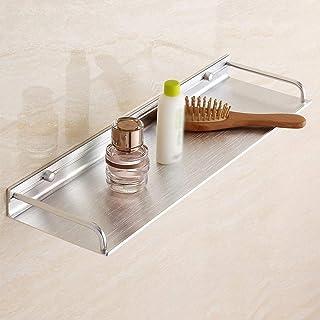 ✨ Aucun étagère de salle de bains de forage, organisateur fixé au mur en aluminium d'organisateur d'étagère de rangement d...