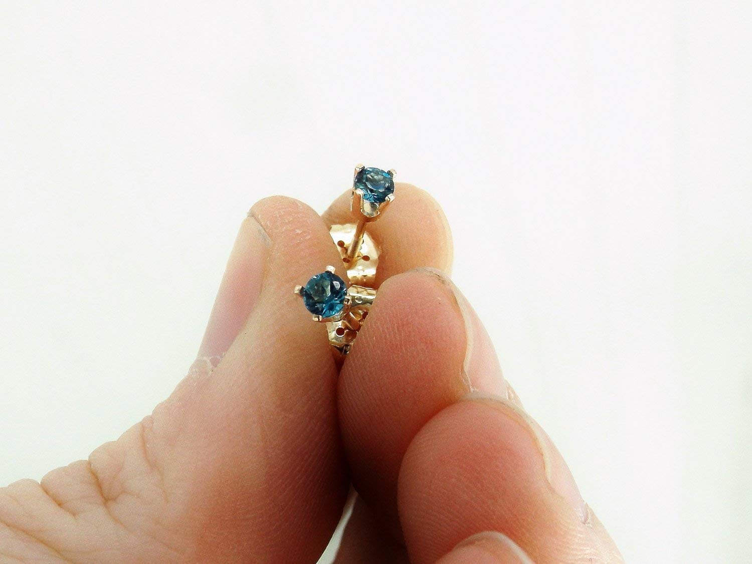 London Blue Topaz Earrings Gold Recommendation Super sale period limited 14k Solid
