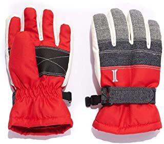 Igloos Boys Taslon Blocked Waterproof Ski Gloves - Multicolor, Insulated for Cold Winter Weather
