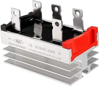 uxcell SQLF 10A 1000V 3 Phase 5-Pin Aluminum Heatsink Bridge Rectifier Diode