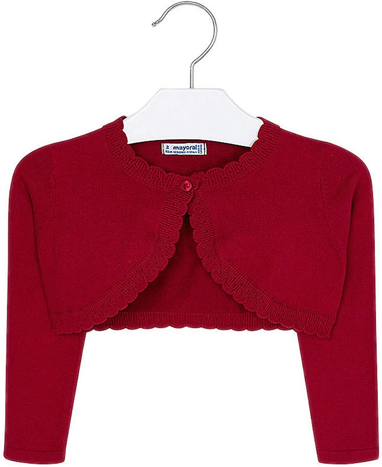 Mayoral - Basic Knitted Cardigan for Girls - 0314, Red