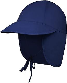 Swim Hat for Baby, Toddler, Infant, Kids, Boys & Girls - Sun Hat w/Flap - Pool, Beach UV Protection Summer Cap