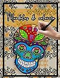 Mandalas de calavera: Libro de colorear para adultos con diseño de calavera / relajación / alivio...