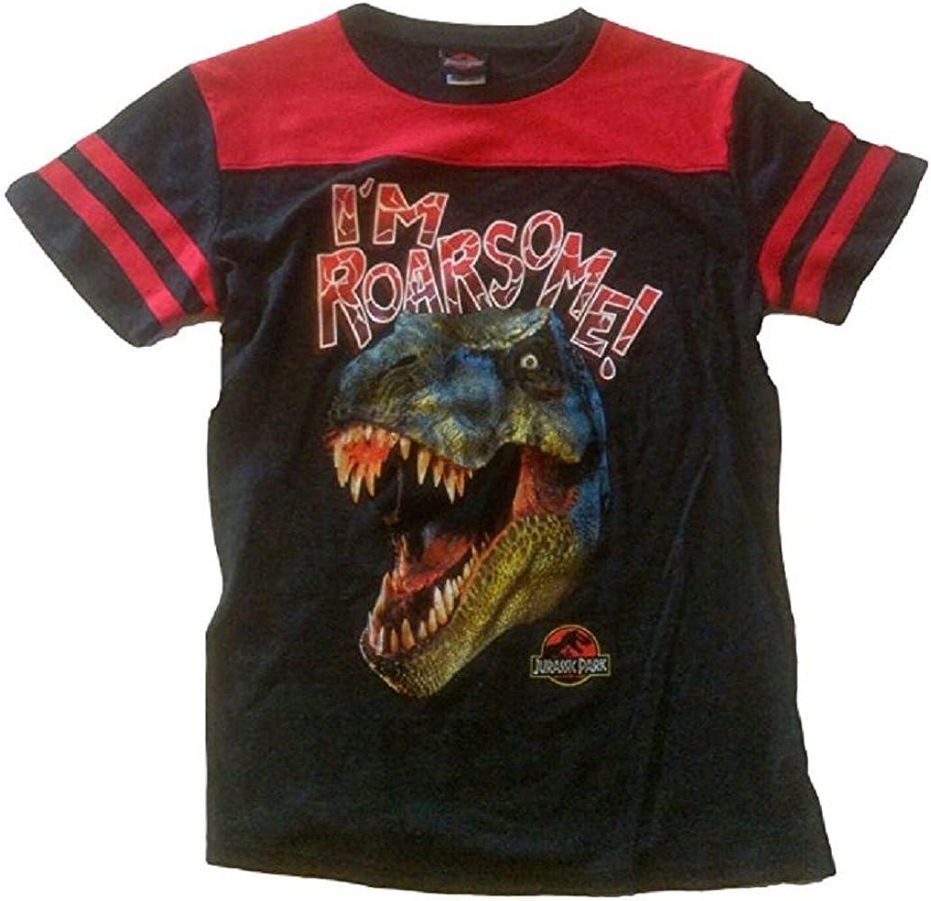 Jurassic World Boys Tee Shirt (M 8, Black/Red)