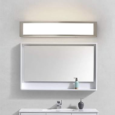 Brushed Nickel Modern LED Vanity Light, Bathroom Light Fixtures, Integrated LED Bath Wall Lighting, Bathroom Vanity Light Ove