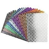 Effekt-Papier, Rosen-Design, metallic, DIN A4, 128g/m², 20 Blatt   Bastelpapier, Glitzerpapier   für Grußkarten, Scrapbooking, DIY, Karten, Basteln, Dekoration